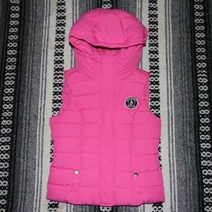 Abercrombie & Fitch Pink Down Puffer Vest …